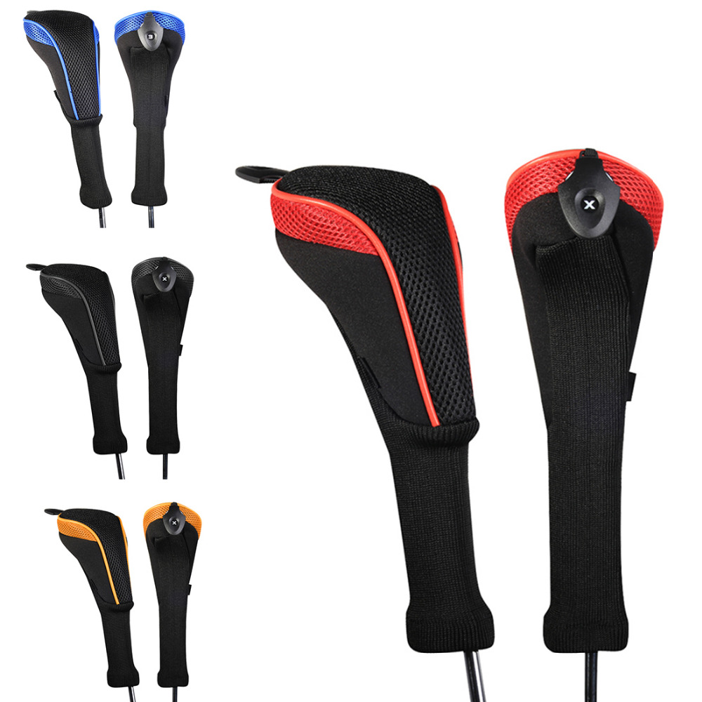 Andux 2pcs/set Golf Club Head Cover Golf Accessories Interchangeable No. HeadCovers Protect Set Latest Design