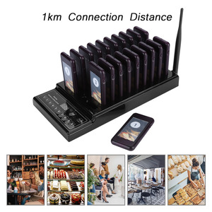 Image 2 - 433.92MHz SU 68Z Guest Paging System 999 channel 20 Receivers Pager System for Restaurant Wireless Waiter Calling System