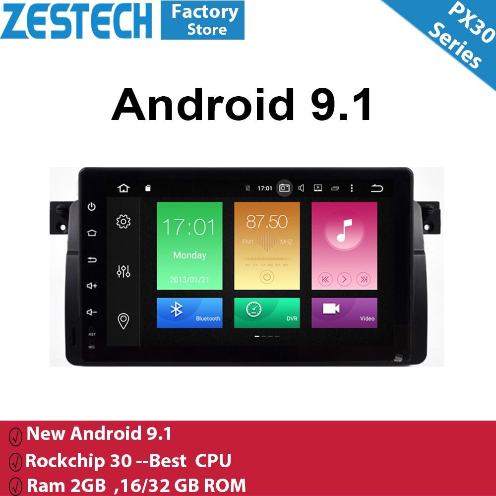 Android 9.1 autoradio GPS vidéo pour bmw e46 voiture lecteur DVD multimédia pour bmw e46 support bmw carplay 2 din radio dvd gps lecteur