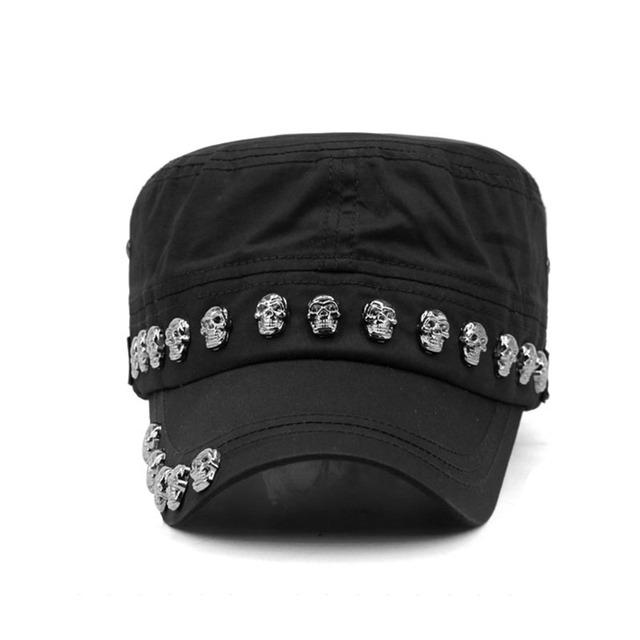 Skull Rivets Flat Hat