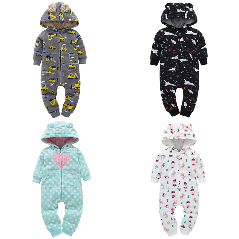 Coat Rompers Coveralls Fleece Bebe Girls Baby Winter Hooded Long-Sleeve Fall Boy Christmas-Costume