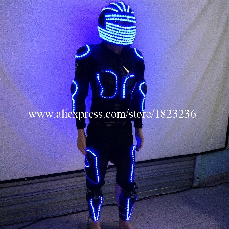 Новый fashioin led костюм одежда праздничная Вечеринка Световой светящийся робот Костюмы сцены Костюмы танцевальная одежда