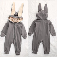 IMSHIE Baby Big Ears Rabbit Shape Climbing clothes Hooded Zipper Romper Baby Boy Girl High Quality Kids Soft Cotton Clothes