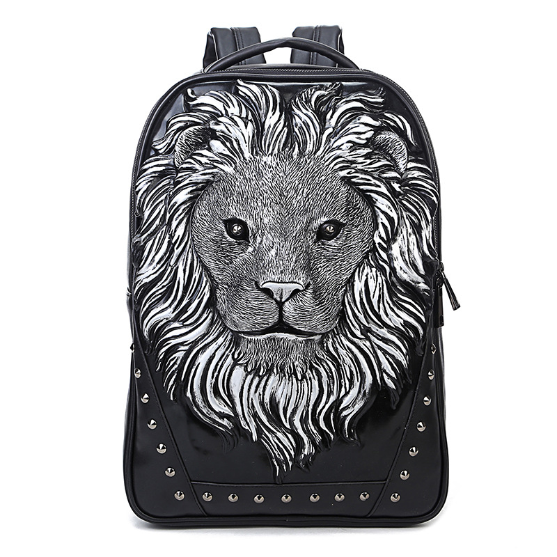 Lion 3D Printing backpack women Who Cares Drawstring bag 2017 Fashion Travel Drawstring bag mochila feminina backpacks makorster fashion letter pattern women backpack bag drawstring bagpacks canvas backpacks cheap printing feminine backpack mk232