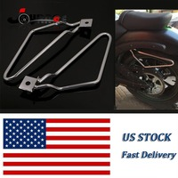 Motorcycle Saddlebag Support Bars Brackets For Harley Sportster 883 Iron XL883N Dyna Fat bob FXDF