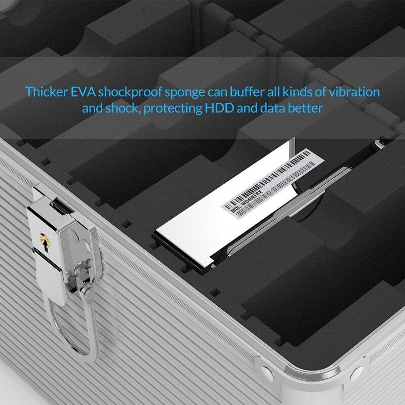 ORICO Aluminium 5 & 10 baies 3.5 pouces Disque Dur boîte de protection De Stockage avec Verrouillage (non compris DISQUE DUR) -argent - 5