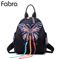 Fabra New Summer Small Backpacks Waterproof Nylon Women Back Bags Black Casual Shoulder Bag Daypacks Korean