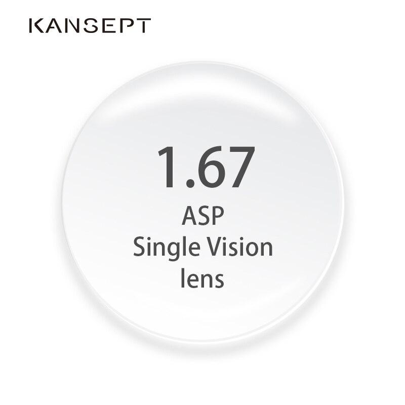 1.67 lentilles de Prescription d'index CR-39 verres asphériques de résine pour des lunettes de myopie/hyperopie/presbytie