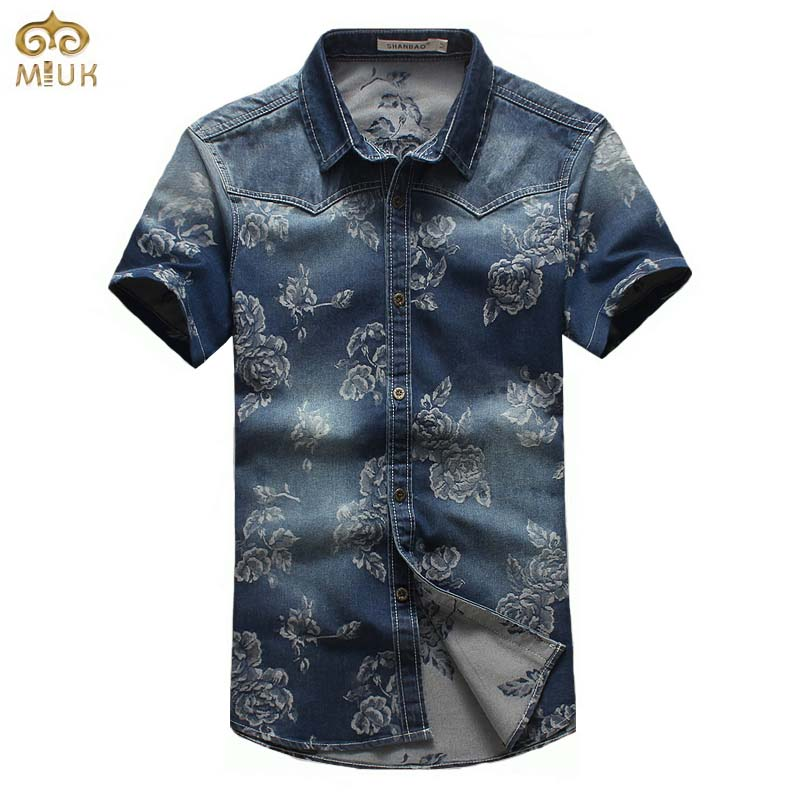 Online Get Cheap Denim and Flower Men Shirt -Aliexpress.com ...
