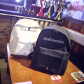 2016 Vintage Black White Canvas Backpacks For Teenage Girls Men School Bags Mochilas Escolares satchel Women Backpack