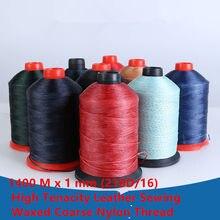 Fil Nylon grossier 1400 M x 1mm, haute ténacité (210D/16), pour couture du cuir, ciré, Machine industrielle, canapé, voiture