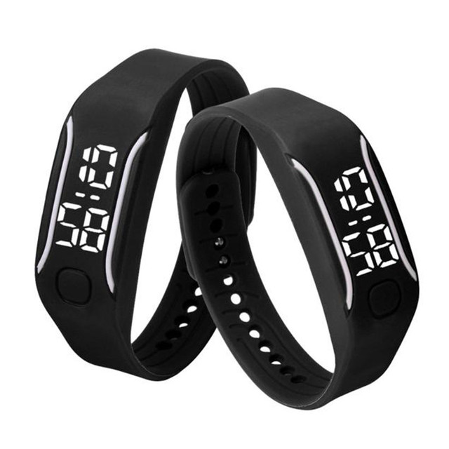 Men Women Digital Wrist Watch Running Watch Date Rubber Bracelet Fashion Durable