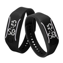Men Women Digital Wrist Watch Running Watch Date Rubber Bracelet Fashion Durable LED Sport Watches for Lovers Wholesale 30A25