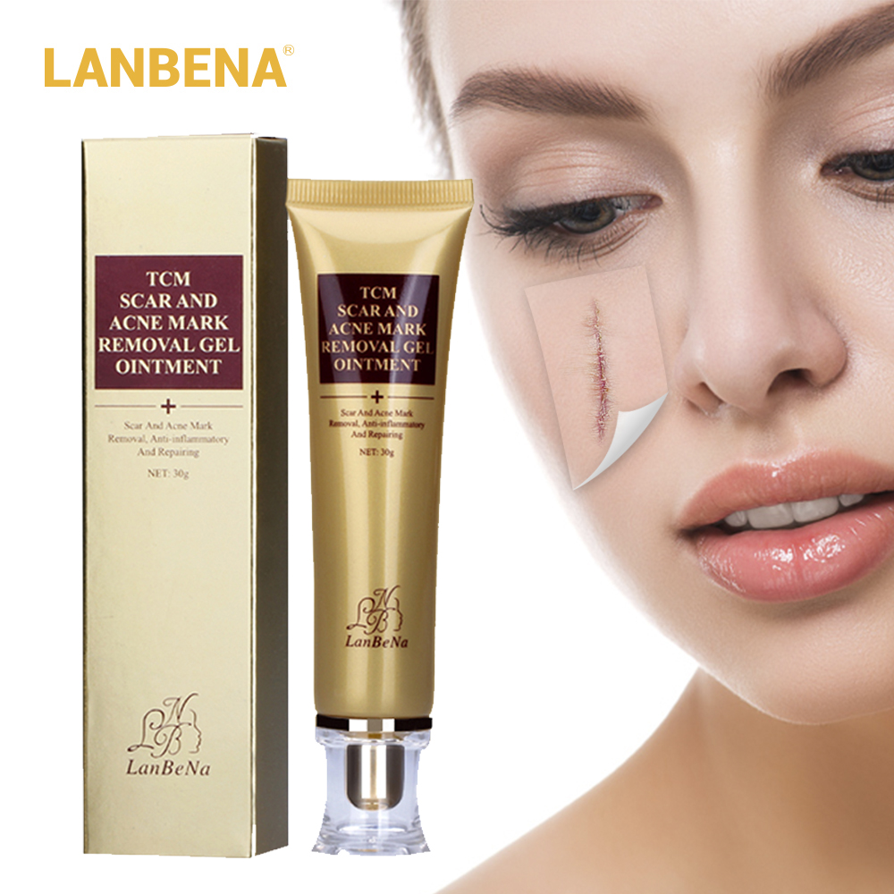 LANBENA Acne Scar Stretch Marks Remover Cream Skin Repair Cream Blackhead Whitening Stretch Marks Ginseng Extract Face Care Gel