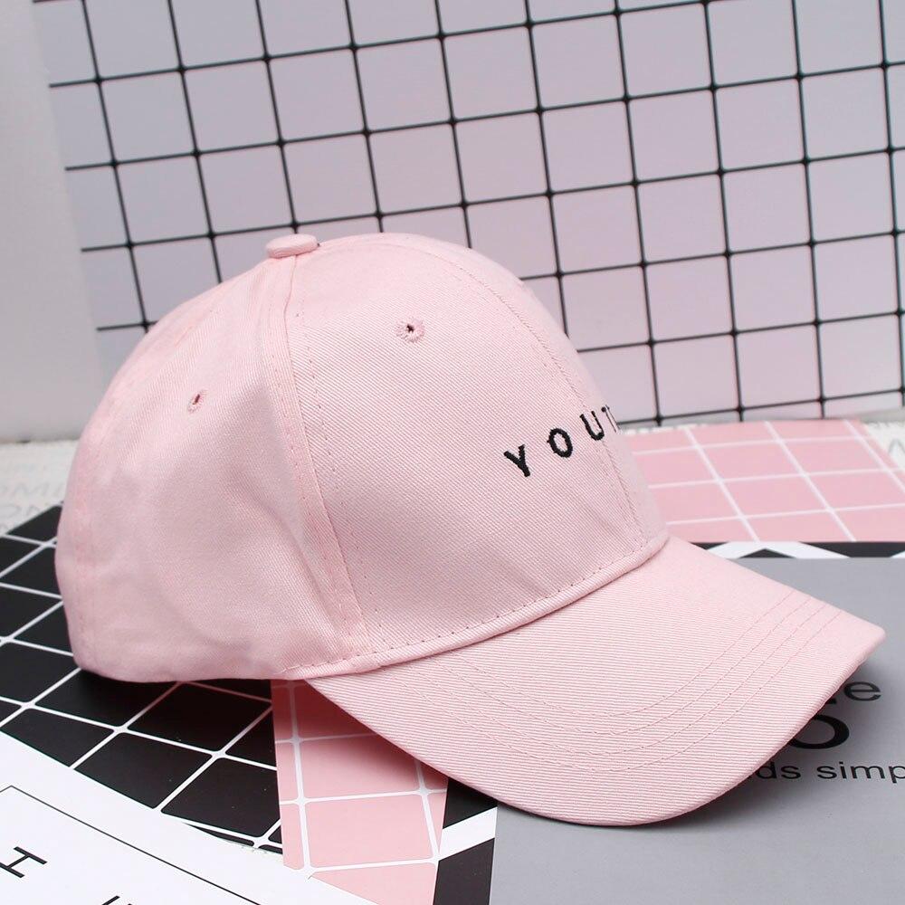 Fashion Women Men Summer Spring Cotton Letter Solid Snapback Caps
