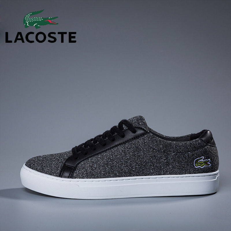 Lacoste Men's Outdoor Skateboarding Shoes Breathable Gray Sports Athletic Sneakers Gym Volleyball Tennis Soccer Walking Shoes professional cushioning volleyball shoes unisex light sports breathable shoe women sneakers badminton table tennis shoes g364