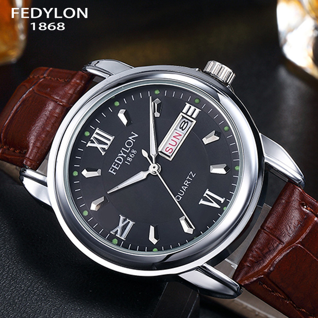 Top Brand Luxury Men Leather Business Watches Mens Quartz Watch Waterproof Calendar Gifts Watches Clock Hodinky Relogios Gifts