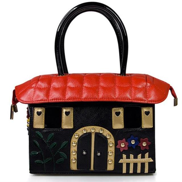 100 Genuine Leather Printing Women Bags Italy Bracci Handbag Style Retro Handmade Bolsa Feminina Braccialini