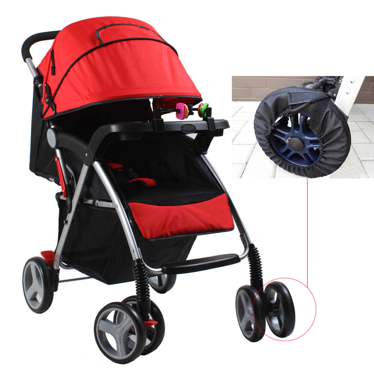 Egg Pram Replacement Wheels 1pcs Baby Stroller Accessories Wheels Covers For Stroller
