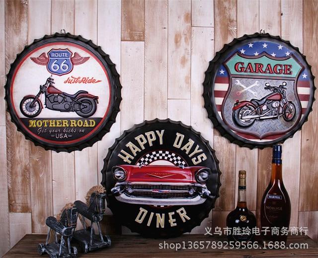 Retro Tabak Keukens : 10 stks partij retro motorfiets gelukkige dagen garage route 66 fles