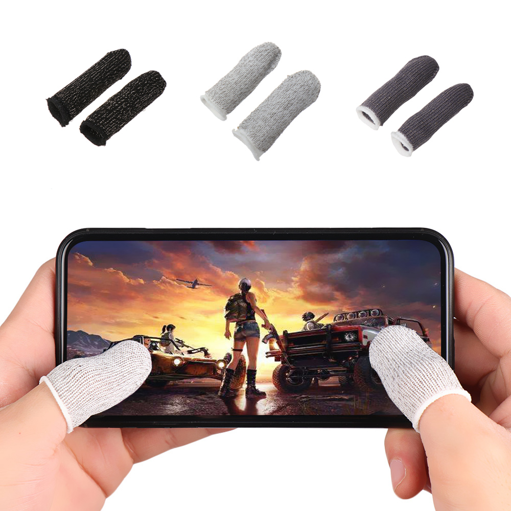 Suitable for Android IOS phones 6 Pcs Touch Screen Finger Game Gloves Conductive Fiber fingertips Sweat-proof Non-slip Ultra-thin Breathable Universal Touch Screen Finger Cots