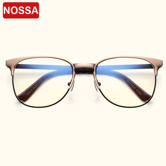 df2a59fde55 NOSSA Brand Vintage Glasses Frame Copper Metal Eyewear Frames Prescription Optical  Frame Unisex Clear Lens Eyeglasses