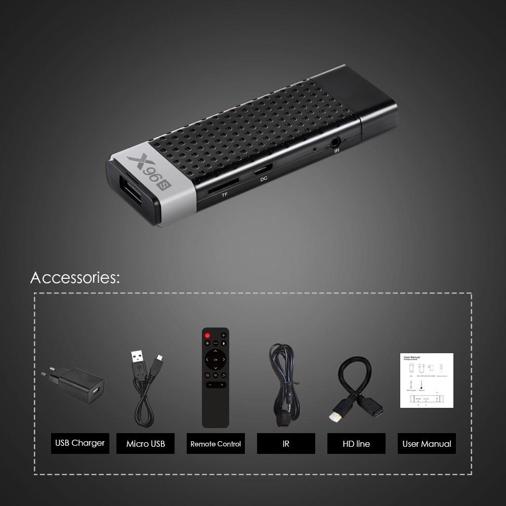 X96S Mini PC TV Stick Android 8.1 Tv Box 4 GB 32 GB Amlogic S905Y2 Quad Core 2.4G & 5 GHz double Wifi BT4.2 1080 P 4 K 60pfs TV Dongle - 5