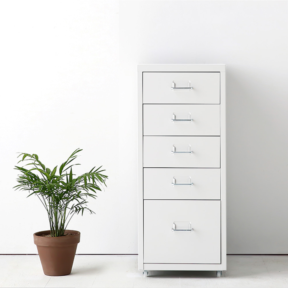 Us 56 98 25 Off Ikayaa Metal Storage Drawer Filing Cabinet Detachable Mobile Steel File Cabinets W 5 Drawers 4 Casters For Home Bar In