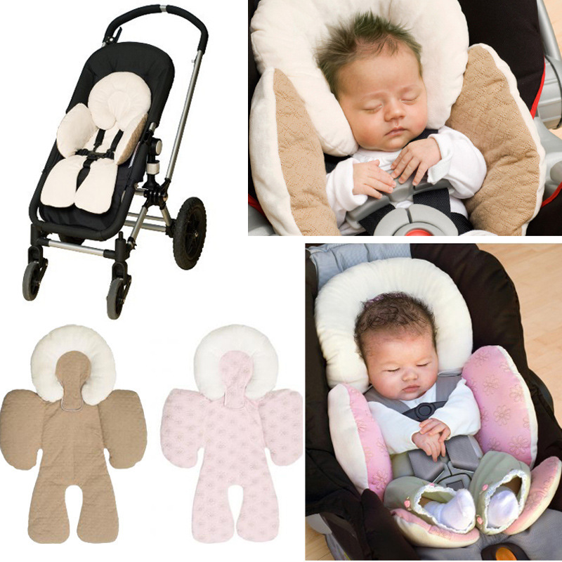Warm in Winter Two Sides Design Baby Stroller Seat Cushion Cotton Mat Universal Kids Stroller Pushchair Buggy Cushion Pad Mat Cartoon Printed Soft Thick Pad Cool in Summer