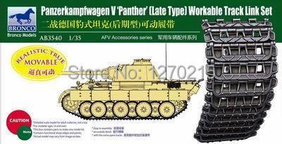 Modelo Bronco AB3540 1/35 Panther tipo tarde Workable trilha ligação Set kit modelo de plástico