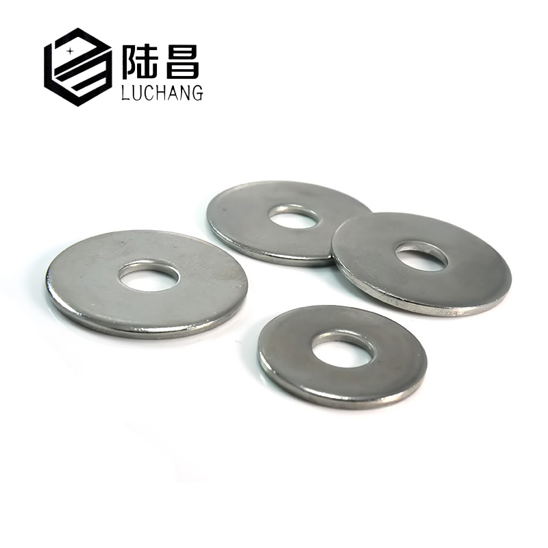 LUCHANG Free Shipping 100Pcs M3 M4 304 Stainless Steel Large Size Flat Washers 50 pieces metric m4 zinc plated steel countersunk washers 4 x 2 x13 8mm