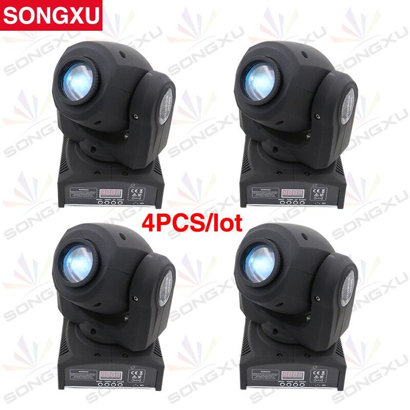 SONGXU 4pcs lot 30W LED Spots Light DMX Stage Spot Moving 9 11 Channels DJ Effect