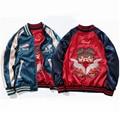 Retro Japanese 2016 Autumn Men's flight Jacket Male and Female Thorn rust Double Baseball Wear Yokosuka Double-sided jacket Coat
