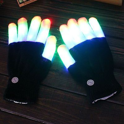 Glowing Rave Gloves