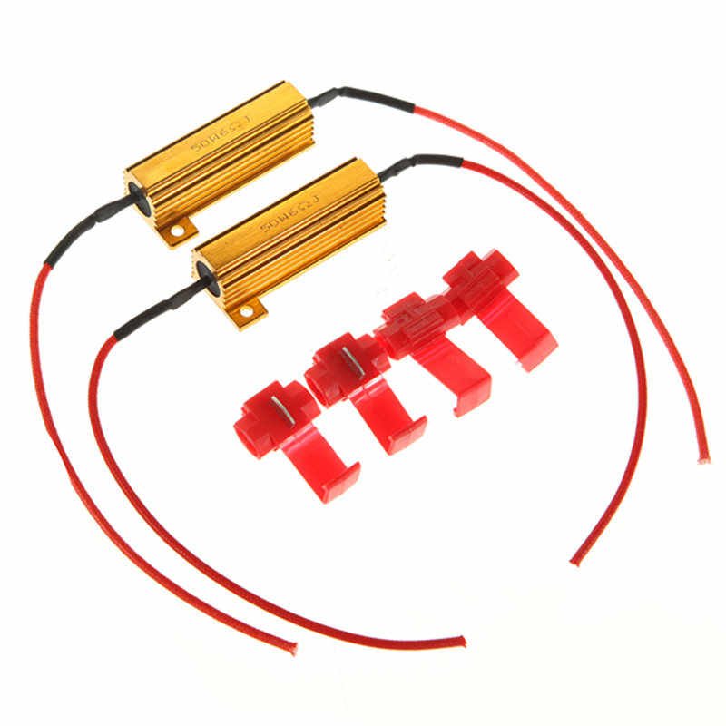 Hot Sale 2pcs 50w Load Resistors LED Flash Rate Turn Signals Light Indicator Controllers Brake Running Motorcycle