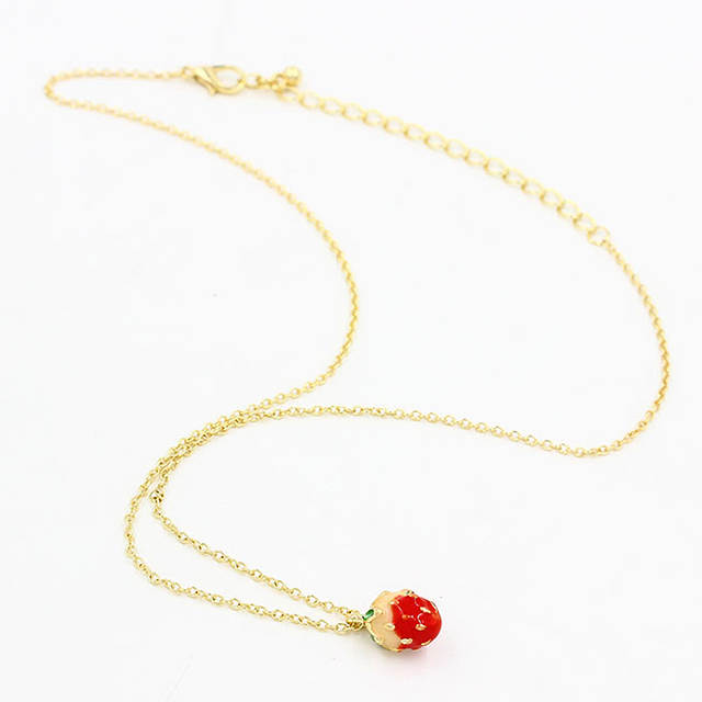 0e652af34e778 placeholder New Delicate Woman Girl Fruit Jewelry Gold Chains Cherry    Apples Necklace For Women Pendant Necklaces
