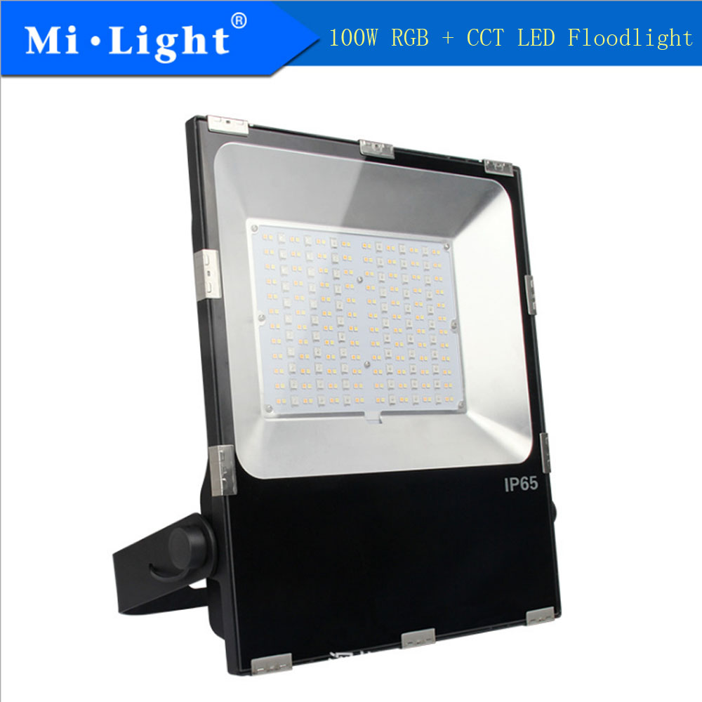 Milight FUTT07 100 w RGB + CCT HA CONDOTTO Il Proiettore Lampade escursione e campeggio Prato Luce IP65 Impermeabile Ha Condotto Il Riflettore Per Il Giardino AC100-240V