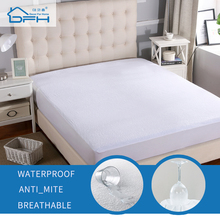160X200cm Funda de colchón impermeable de 100% Sábana protectora de tela de felpa de algodón para colchón fundas elásticas para colchón