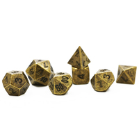7Pcs Set 2016 Hot Metal Polyhedral Dice Shaped Foreign Antique Color