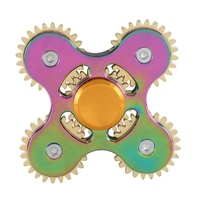 Gold Four Gear Fidget Spinner Finger Zinc EDC Hand Spinner Tri For Autism And ADHD Fidget