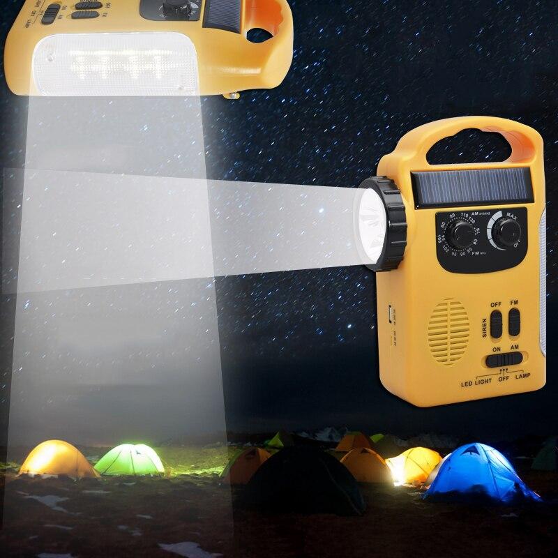 TRANSCTEGO LED Dynamo Solar Led verlichting Multifunctionele Radio ...