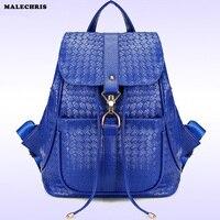 Women S Shoulder Bag Weaving Travel Bag PU Lady Shoulder Backpack