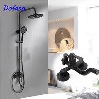 Dofaso Античная Европа черный смеситель кран латунь ванная комната Большой дождь черный матовый набор для душа