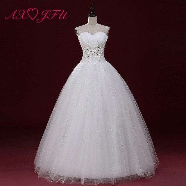 4cd6e9899ac6b € 38.79 8% de réduction AXJFU dentelle robe de mariage mariée bustier robe  de mariage jupe bouffante de maternité sangle robe de mariage dans ...