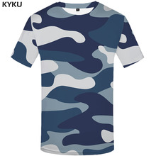 3d Tshirt Blue Camouflage T-shirt Men Camo T-shirts Harajuku Printed Military Tshirts Casual Rock Shirt Print
