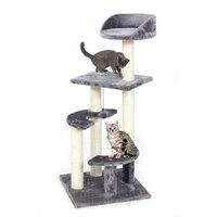 PAWZRoad Cat Scratching Jouet Bois Semi-circulaire Escalier Chat Sautant Jouet Escalade Stable Cadre Chat Meubles Post #0209