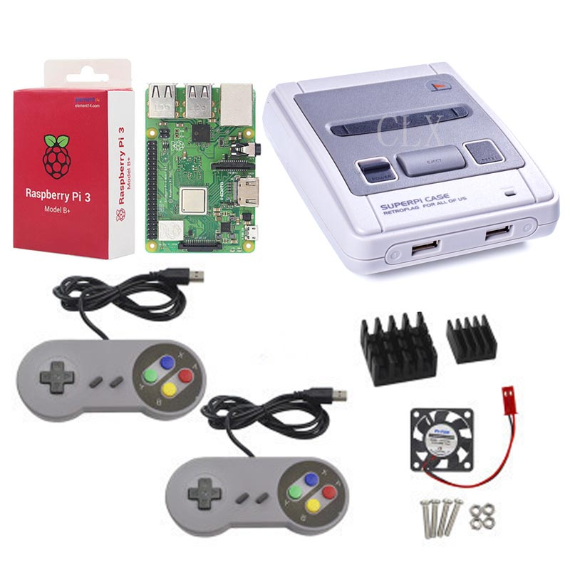 Image 4 - Retroflag SUPERPi CASE J NESPi Case+ Raspberry Pi 3 Model B+(plus)+32GB card+5V 3A Power+Heat Sink+fan+2pcs game handle+HDMI-in Demo Board Accessories from Computer & Office