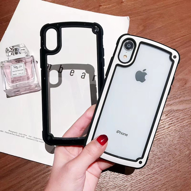 Colorful Frame Transparent Case Cover For iPhone