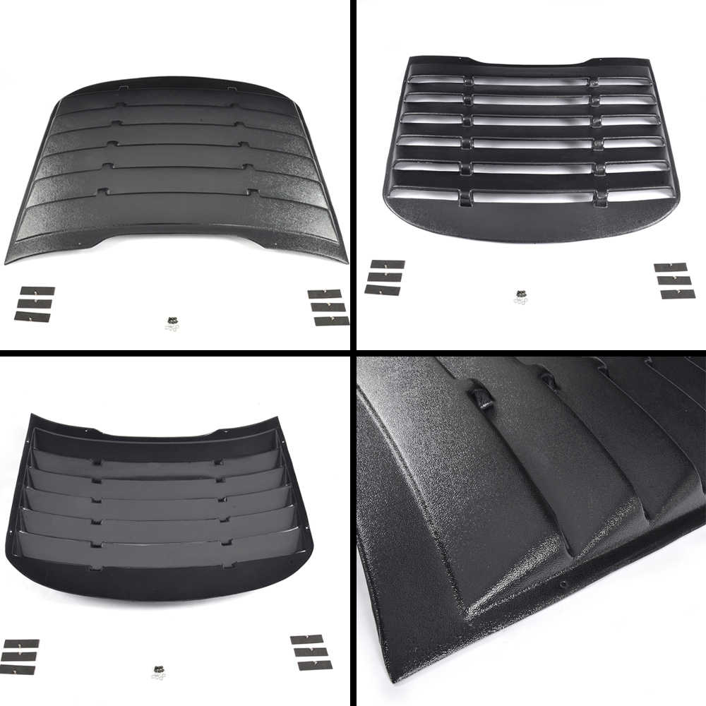 Для Форд Мустанг купе 2015 2016 PP Пластиковая Задняя панель с прорезями на Окно Вентиляционное отверстие черный солнцезащитный козырек крышка автомобильные аксессуары