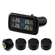 TPMS Car Electronics Wireless Tire Pressure Monitoring System With External Replaceable Battery Sensors LCD Display U903